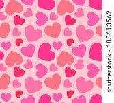 pink heart seamless pattern | Shutterstock . vector #183613562