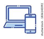 responsive design  responsive  ... | Shutterstock .eps vector #1836140392