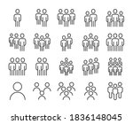 people icon. group of people... | Shutterstock .eps vector #1836148045