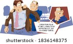 funny people. fitting in... | Shutterstock .eps vector #1836148375