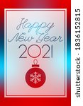 new year 2021 red and blue... | Shutterstock .eps vector #1836152815