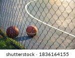 Basketball Ball On Illuminated...
