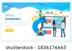 attracting online customers... | Shutterstock .eps vector #1836176665