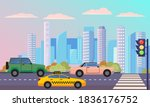 cityscape with street with...   Shutterstock .eps vector #1836176752