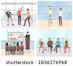 business seminar vector  people ... | Shutterstock .eps vector #1836176968
