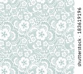 lace seamless pattern with... | Shutterstock . vector #183619196
