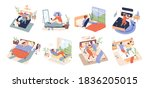 collection of different people... | Shutterstock .eps vector #1836205015