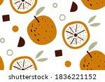 citrus wallpaper. vector... | Shutterstock .eps vector #1836221152