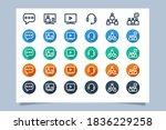communication icon set vector...