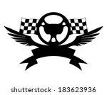vector sign. steering wheel. | Shutterstock .eps vector #183623936