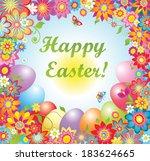 easter greeting | Shutterstock .eps vector #183624665
