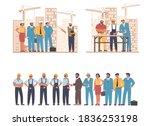 construction engineers ... | Shutterstock .eps vector #1836253198