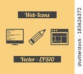 web icons set. flat design....