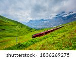 Train Near The Kleine Scheidegg ...