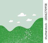 cute cartoon hills characters...   Shutterstock .eps vector #1836270958