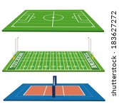 different sports fields set ... | Shutterstock .eps vector #183627272