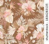 seamless watercolor tropic... | Shutterstock .eps vector #1836283135