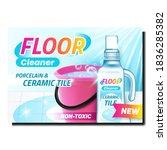 floor cleaner creative... | Shutterstock .eps vector #1836285382