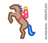Stand Hind Legs Icon Vector....