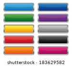 metallic rectangular buttons | Shutterstock .eps vector #183629582