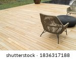 Small photo of flooring teak wood , outdoor decking, oil natural color, outdoor use, sun resistant, weather resistant, weather resistant.