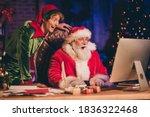 Photo Portrait Of Shocked Santa ...
