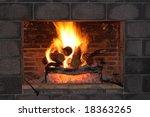 Fireplace And Bricks