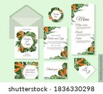 tropical design for wedding... | Shutterstock .eps vector #1836330298