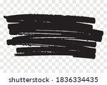 marker brush on transparent... | Shutterstock .eps vector #1836334435