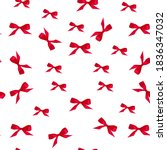 seamless pattern of red bows ... | Shutterstock . vector #1836347032