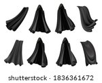 set of isolated black cloak... | Shutterstock .eps vector #1836361672