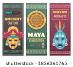 maya civilization ancient... | Shutterstock .eps vector #1836361765