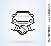 car deal with hand shake sign... | Shutterstock .eps vector #1836368008