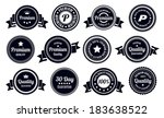 vintage quality guarantee badges | Shutterstock .eps vector #183638522