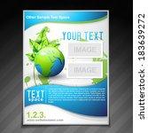 vector eco friendly brochure... | Shutterstock .eps vector #183639272