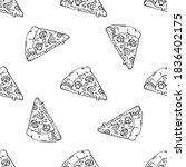 linear seamless pattern of... | Shutterstock .eps vector #1836402175