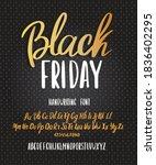 black friday font. typography... | Shutterstock .eps vector #1836402295