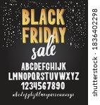 black friday font. typography... | Shutterstock .eps vector #1836402298