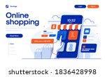 landing page template of online ... | Shutterstock .eps vector #1836428998