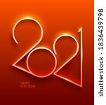 new year 2021. bright golden... | Shutterstock .eps vector #1836439798
