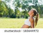 young attractive woman of... | Shutterstock . vector #183644972