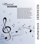 paper background with music... | Shutterstock .eps vector #183646106
