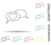 love communication multi color...