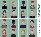 avatar set | Shutterstock .eps vector #183647486