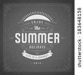 summer vector typography poster ... | Shutterstock .eps vector #183648158
