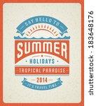 summer vector typography poster ... | Shutterstock .eps vector #183648176