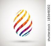 happy easter | Shutterstock .eps vector #183648302