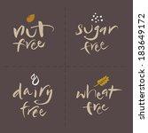 hand written unhealthy or... | Shutterstock .eps vector #183649172