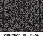 monochrome hexagonal chains...   Shutterstock .eps vector #1836492502