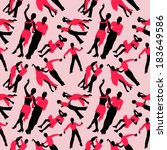 dancing color silhouettes...   Shutterstock .eps vector #183649586